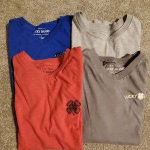 4 Lucky Brand boy shirts